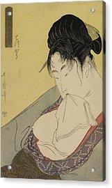 A Low Class Prostitute Acrylic Print by Kitagawa Utamaro