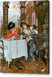 A Luncheon Acrylic Print by Tissot