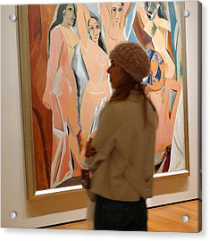 A Maid And Les Demoiselles D'avignon Acrylic Print by Frank Winters