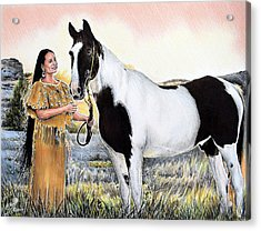 A Maiden And Spot A Special Bond Acrylic Print by Andrew Read
