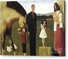 Acrylic Print featuring the painting A Man About A Horse by Glenn Quist