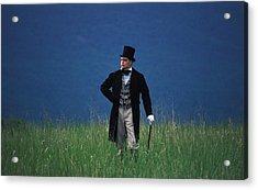 A Man Outstanding In His Field Acrylic Print