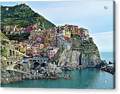Acrylic Print featuring the photograph A Manarola Morning by Frozen in Time Fine Art Photography