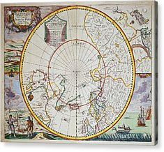 A Map Of The North Pole Acrylic Print
