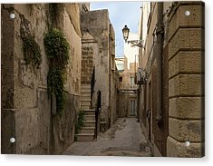 A Marble Staircase To Nowhere - Tiny Italian Lane In Syracuse Sicily Acrylic Print