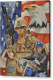A Marine's Marine Acrylic Print