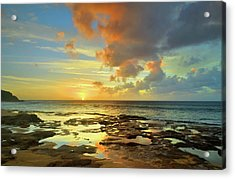 Acrylic Print featuring the photograph A Marmalade Sky In Molokai by Tara Turner