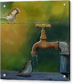 Acrylic Print featuring the painting A Matter Of Watter by Ceci Watson