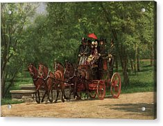 A May Morning In The Park Acrylic Print by Thomas Eakins