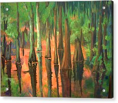 Acrylic Print featuring the painting A Memory For Jennifer by AnnE Dentler