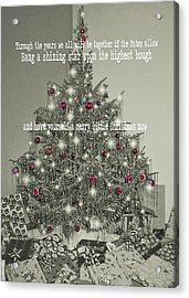 A Merry Little Christmas Quote Acrylic Print by JAMART Photography