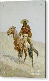 A Mexican Vaquero Acrylic Print by Frederic Remington