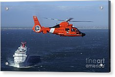 A Mh-65c Dolphin Helicopter Acrylic Print