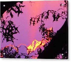 Acrylic Print featuring the photograph A Mid-summer Sunset by Susan Carella