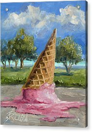 Acrylic Print featuring the painting A Mid Summer Tragedy by Billie Colson