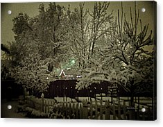 A Mid Winter's Night Acrylic Print by Mick Anderson