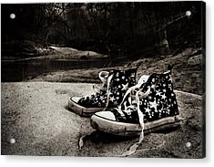 Acrylic Print featuring the photograph A Mile In My Shoes by Jessica Brawley