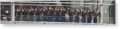 A Military Band Of Trumpeters Performs Acrylic Print by Panoramic Images