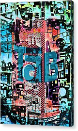 Acrylic Print featuring the mixed media A Million Colors One Calorie by Tony Rubino
