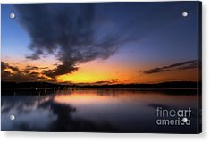 A Misty Sunset On Lake Lanier Acrylic Print