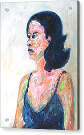 Acrylic Print featuring the painting A Modern Madame Bovary by Esther Newman-Cohen