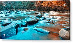 A Moment In The Great Smoky Mountains Acrylic Print by Rich Leighton