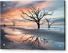 A Moment Of Reflection - Charleston's Botany Bay Boneyard Beach Acrylic Print