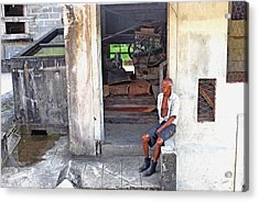 Acrylic Print featuring the photograph A Moment Of Reflection by Gary Wonning