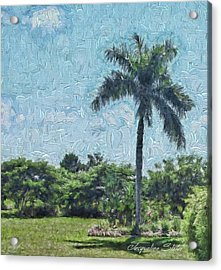 A Monet Palm Acrylic Print