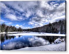Acrylic Print featuring the photograph A Moose River Snowscape by David Patterson