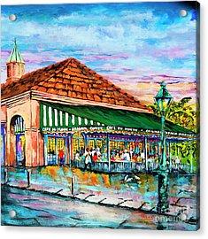 A Morning At Cafe Du Monde Acrylic Print