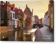 A Morning In Brugge Acrylic Print by JR Photography