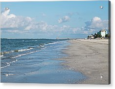 A Morning Walk On Fort Myers Beach Fort Myers Florida Acrylic Print