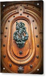 A Most Unusual Door Knocker In Geneva Old Town  Acrylic Print