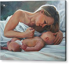 A Mother's Adoration Acrylic Print