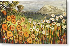 A Mountain View Acrylic Print by Jennifer Lommers