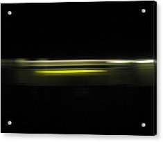 A Moving Train  Acrylic Print by Hasani Blue