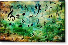 Acrylic Print featuring the digital art A Musical Storm 2 by Andee Design