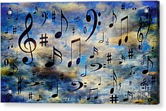 Acrylic Print featuring the digital art A Musical Storm 3 by Andee Design