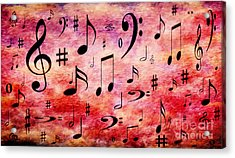 Acrylic Print featuring the digital art A Musical Storm 4 by Andee Design