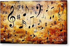 Acrylic Print featuring the digital art A Musical Storm by Andee Design