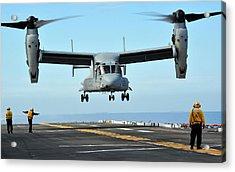 A Mv-22 Osprey Aircraft Prepares Acrylic Print by Stocktrek Images