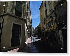 A Narrow Alley In Perpignan, France Acrylic Print by Stacy Gold