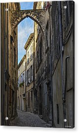 Acrylic Print featuring the photograph A Narrow Street In Viviers by Allen Sheffield
