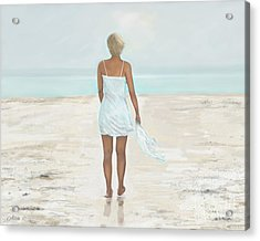 Acrylic Print featuring the painting A Natural Beauty by Leslie Allen