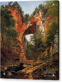 A Natural Bridge In Virginia Acrylic Print by David Johnson