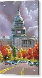 Acrylic Print featuring the painting A New Day by Lesley Spanos