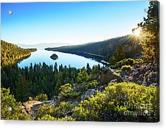 A New Day Over Emerald Bay Acrylic Print