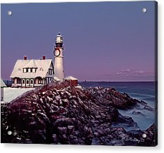 A New England Christmas Different Format Acrylic Print by M S McKenzie