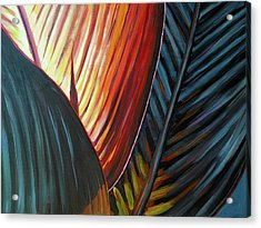 Acrylic Print featuring the painting A New Leaf by Lesley Spanos